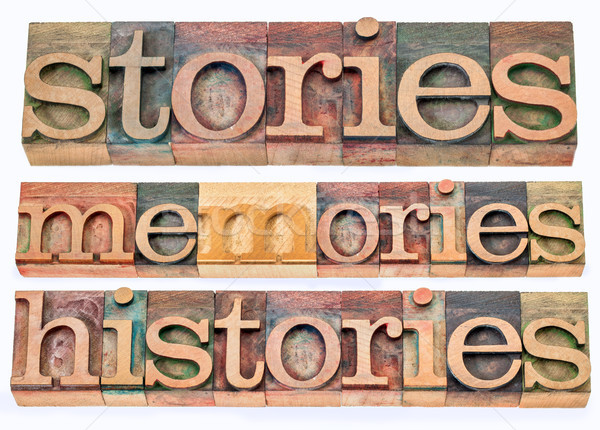 Stock photo: stories, memories, histories