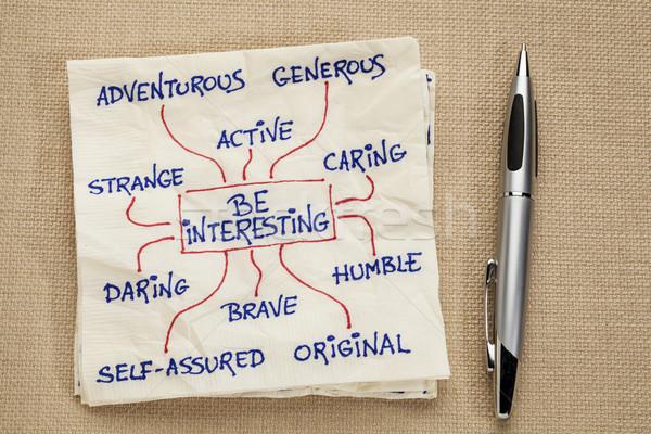 Interessante motivazionale doodle tovagliolo strano ispirazione Foto d'archivio © PixelsAway