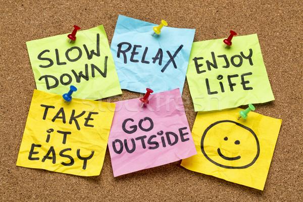 slow down, relax, take it easy Stock photo © PixelsAway