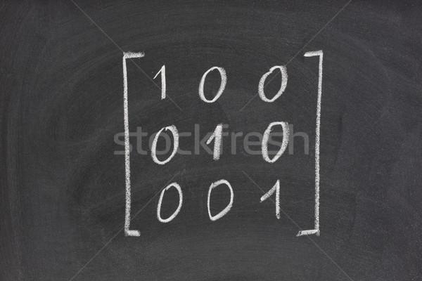 Identidade unidade matriz lousa três Foto stock © PixelsAway