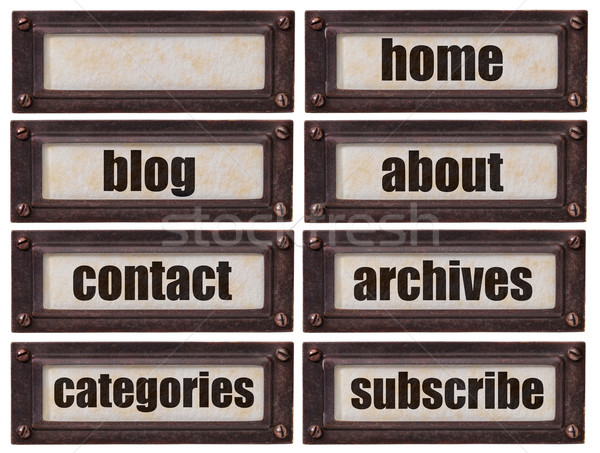 blog and websiite word set Stock photo © PixelsAway