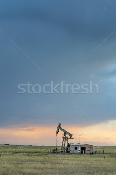 oil rig on a Colorado prairie Stock photo © PixelsAway