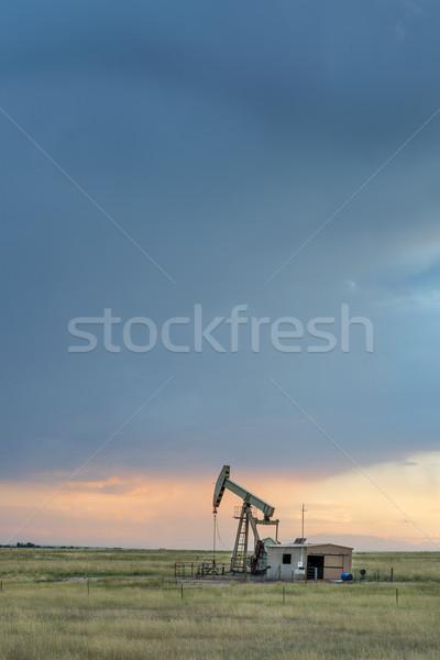 Platforma wiertnicza Colorado preria oleju dywan Zdjęcia stock © PixelsAway