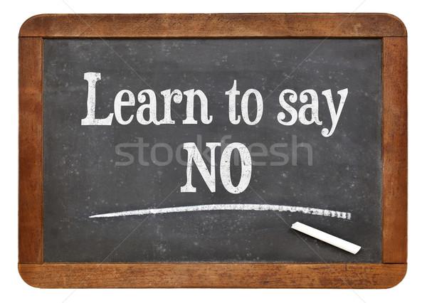 Leren geen advies vintage Blackboard concept Stockfoto © PixelsAway