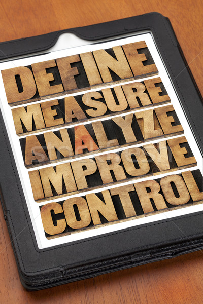 define, measure, analyze, improve, control Stock photo © PixelsAway