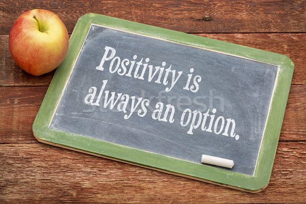 Positividad siempre opción texto pizarra rojo Foto stock © PixelsAway