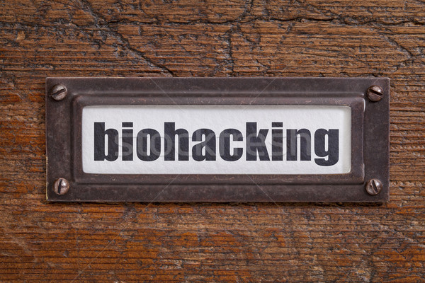 biohackin  tag - file cabinet label Stock photo © PixelsAway