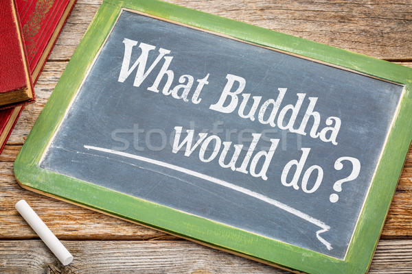 What Buddha would do question Stock photo © PixelsAway