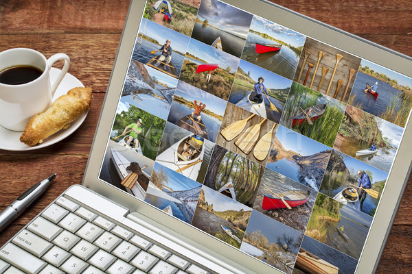 gallery of canoe paddling pictures Stock photo © PixelsAway