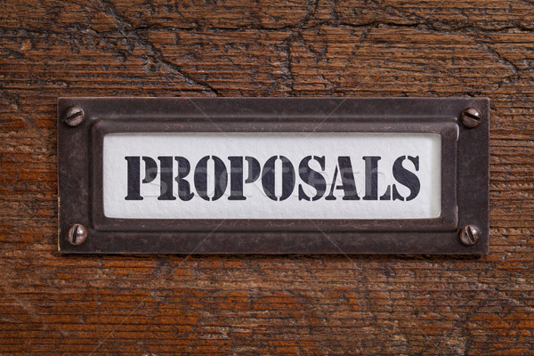 proposals -  file cabinet label Stock photo © PixelsAway