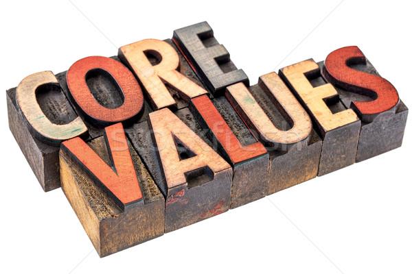 Núcleo valores vintage madeira tipo abstrato Foto stock © PixelsAway