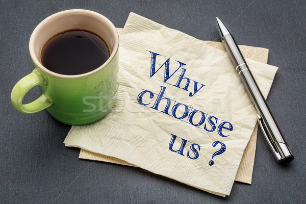 Why choose us? Stock photo © PixelsAway