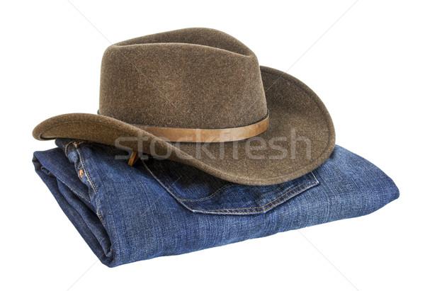 cowboy hat and blue jeans Stock photo © PixelsAway