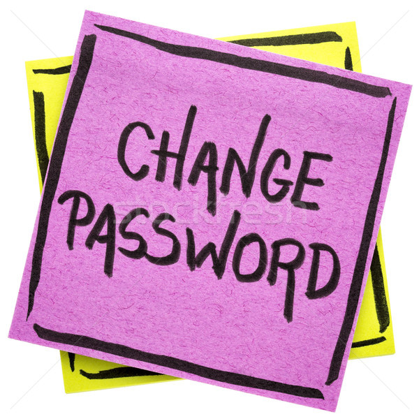 change password reminder note Stock photo © PixelsAway