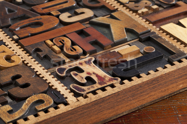 antique letterpress prinitng blocks Stock photo © PixelsAway