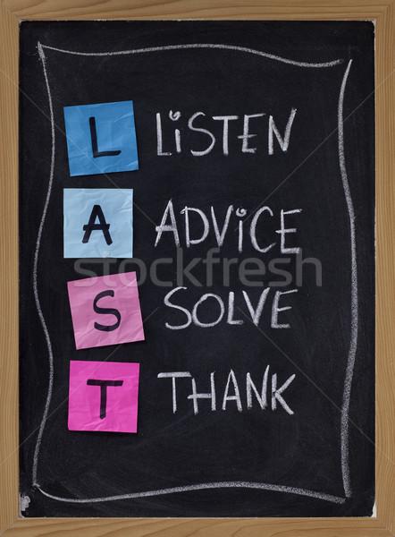 слушать совет решить последний акроним подготовки Сток-фото © PixelsAway