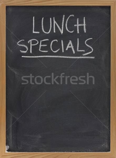 lunch specials on blackboard in vertical Stock photo © PixelsAway