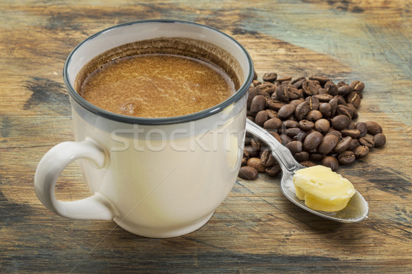 cup of fatty coffee with butter Stock photo © PixelsAway