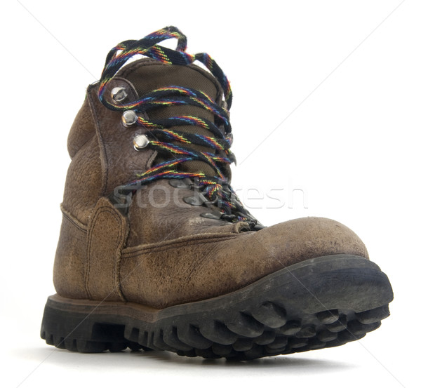 heavy worn out hiking boot Stock photo © PixelsAway