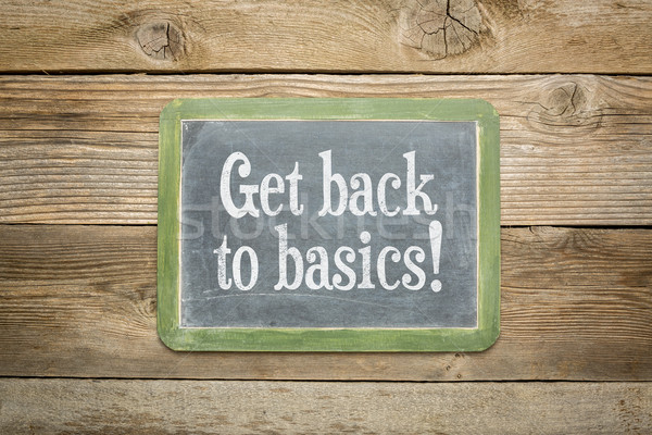 get back to basics Stock photo © PixelsAway