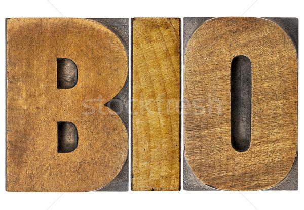 Bio woord hout type biologie geïsoleerd Stockfoto © PixelsAway