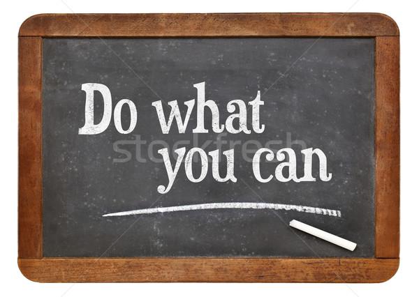 Welche kann Tafel motivierend Text weiß Stock foto © PixelsAway