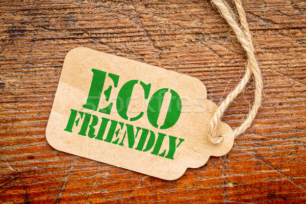 eco friendly sign  on a price tag Stock fotó © PixelsAway