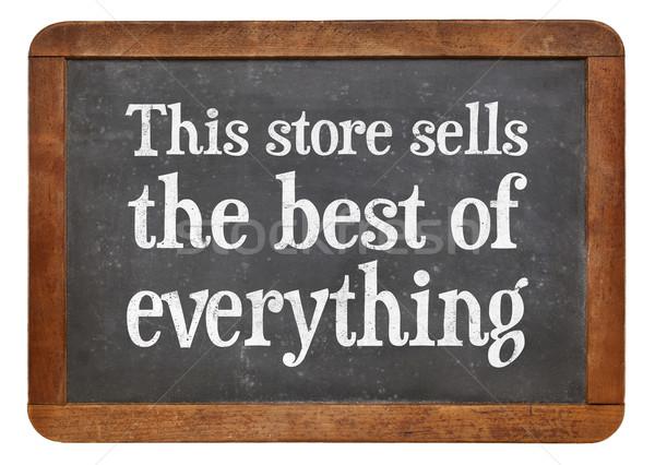 Magasin meilleur marketing vintage signe tableau noir Photo stock © PixelsAway