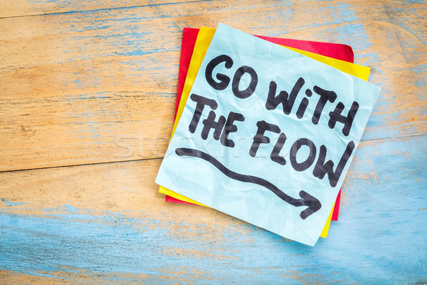 Go with the flow advice Stock photo © PixelsAway