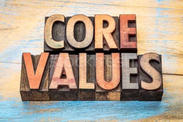 コア 価値観 ヴィンテージ 木材 タイプ バナー ストックフォト © PixelsAway