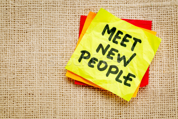 meet new people reminder note Stock photo © PixelsAway