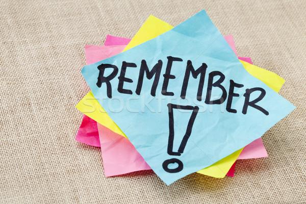 remember on sticky note Stock photo © PixelsAway