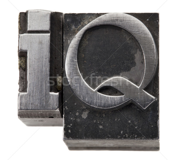 интеллект акроним изолированный символ Vintage Гранж Сток-фото © PixelsAway