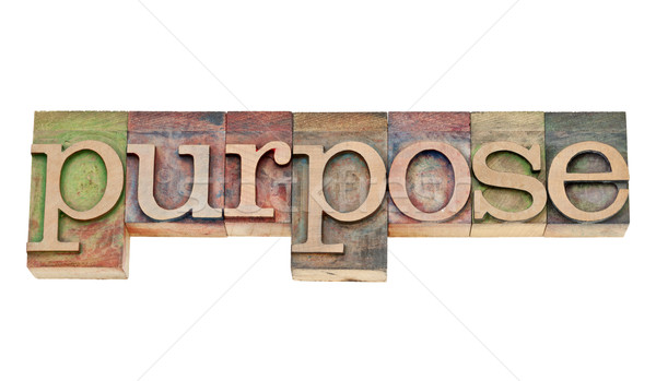 purpose word in letterpress wood type Stock photo © PixelsAway