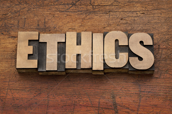 ethics word in wood type Stock photo © PixelsAway