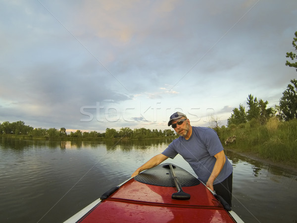 launching stand up paddleboard Stock photo © PixelsAway