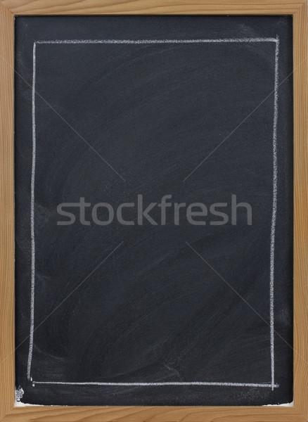 Tahta büyük dikdörtgen beyaz tebeşir ahşap çerçeve Stok fotoğraf © PixelsAway