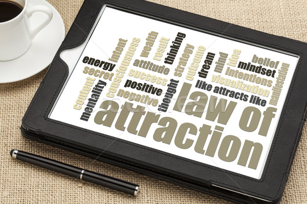 law of attraction word cloud Stock photo © PixelsAway