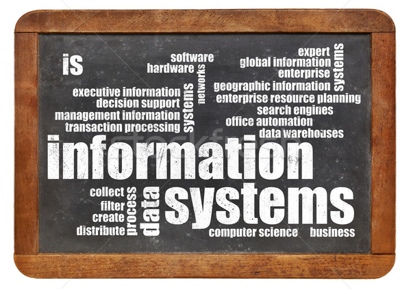 information systems word cloud Stock photo © PixelsAway