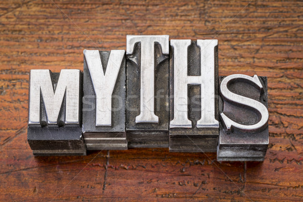 myths word in metal type Stock photo © PixelsAway