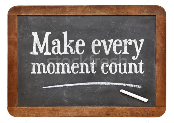 Make every moment count on blackb oard Stock photo © PixelsAway