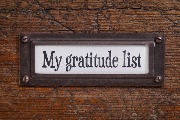 Meu gratidão lista arquivo etiqueta Foto stock © PixelsAway