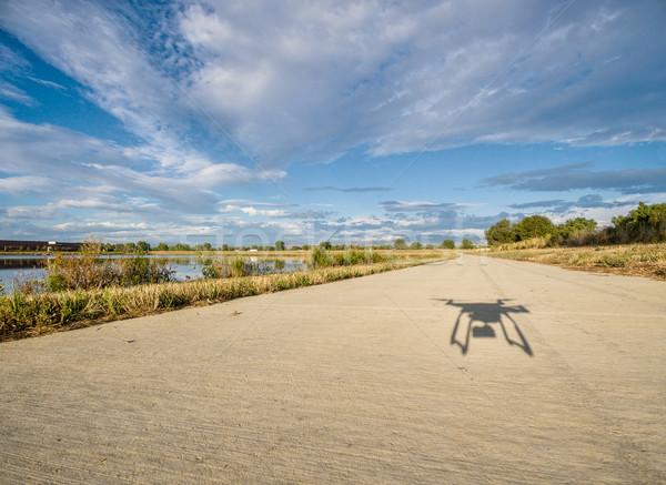shadow of hexacopter drone flying Stock photo © PixelsAway