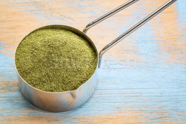 freeze-dried organic wheat grass powder Stock photo © PixelsAway