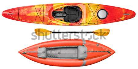 river running kayak isolated Stock photo © PixelsAway