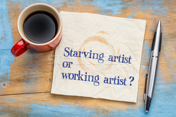 starving or working artist question Stock photo © PixelsAway