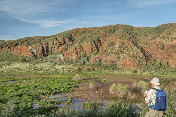 Természetjáró Colorado idős piros hegy nyitva Stock fotó © PixelsAway