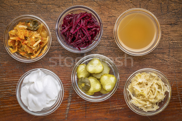 fermented food sampler Stock photo © PixelsAway