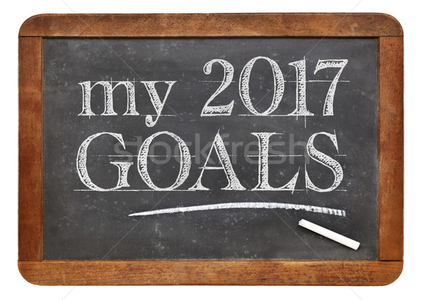 My 2017 goals on blackboard Stock photo © PixelsAway