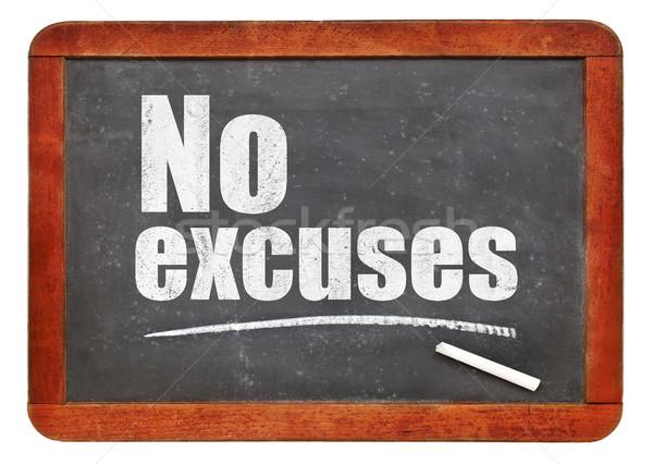 No excuses blackboard sign Stock photo © PixelsAway